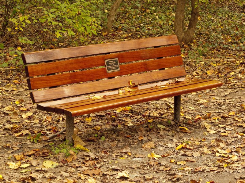 Именная скамейка